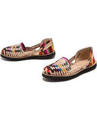 Ix Style - Woven Leather Huarache Flats - Traditional Mayan - Lyst