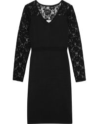 Reiss Cheska Lace Detail Bodycon Dress - Lyst