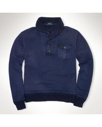 Polo Ralph Lauren French Terry Hunting Sweater - Lyst