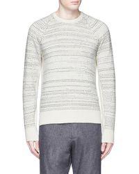 Rag & Bone | 'justin' Birdseye Stripe Cashmere Sweater | Lyst