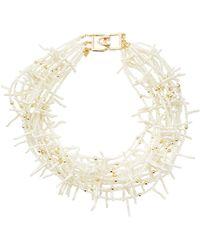 Kenneth Jay Lane Beaded Multi-Strand Collar Necklace - Lyst