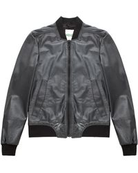 Kenzo Black Leather Jacket  - Lyst