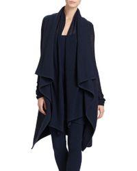 Donna Karan New York Sleeveless Boiled Cashmere Coat - Lyst