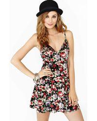 Nasty Gal Fine Romance Velvet Dress - Lyst