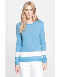 Tory Burch 'Iberia' Colorblock Cashmere Sweater - Lyst