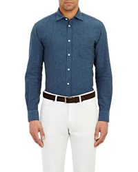 Hartford Pindot Shirt - Lyst