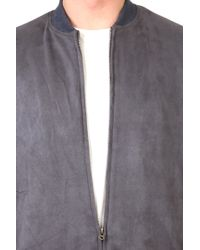 Shades of Grey by Micah Cohen Ultrasuede Bomber Jacket - Lyst
