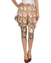 Just Cavalli Cropped Pants - Lyst