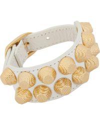 Balenciaga Arena Two-Row Giant All Stud Bracelet gold - Lyst