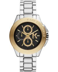 Karl Lagerfeld Unisex Chronograph Karl Energy Stainless Steel Bracelet Watch 44mm - Lyst