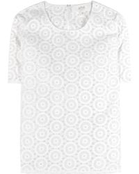 Vanessa Bruno Athé Embroidered Cotton And Silk Organza Top - Lyst