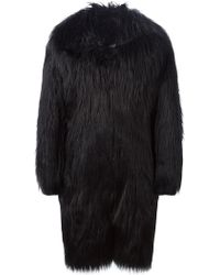 KTZ - Faux Fur Overcoat - Lyst