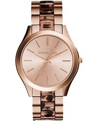 Michael Kors Slim Runway Watch pink - Lyst
