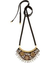 Marni Goldplated Horn and Crystal Necklace - Lyst