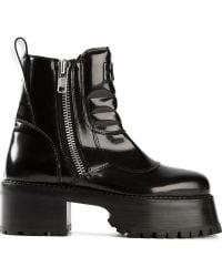 Hood By Air Black Platform Boots - Lyst