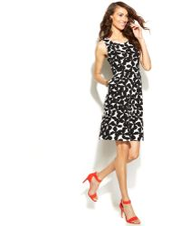 Inc International Concepts Sleeveless Pocketed Floral-Print Dress - Lyst