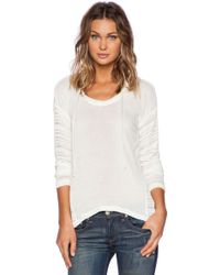 Splendid South Cove Loose Knit Hoodie - Lyst