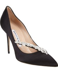 Manolo Blahnik Nadira Jeweled Pumps - Lyst
