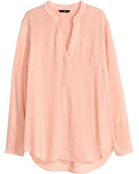 H&M Long-Sleeved Blouse - Lyst