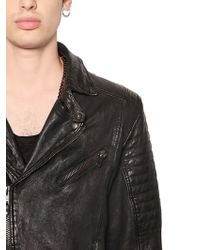 HTC Hollywood Trading Company - Hand-painted & Studded Leather Jacket - Lyst