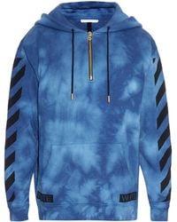 Off-White c/o Virgil Abloh   Tie-dye Hooded Sweatshirt   Lyst