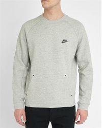 Nike | Grey Techfleece Sweatshirt | Lyst