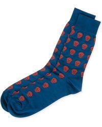 Alexander McQueen - Skull Knit Short Socks - Lyst