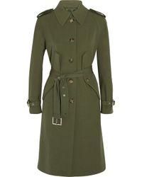 Michael Kors Wool-Gabardine Trench Coat - Lyst