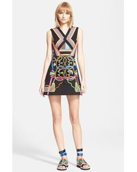 Peter Pilotto Embroidered Fit & Flare Dress - Lyst