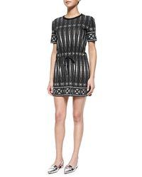 Tory Burch Graphic-Print T-Shirt Sheath Dress - Lyst