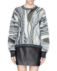 Rag & Bone X Coogi Contrast Knit Sweater - Lyst