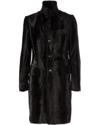 Junya Watanabe Faux Fur Fitted Coat - Lyst