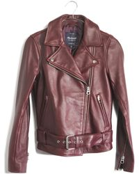 Madewell Ultimate Leather Motorcycle Jacket - Lyst