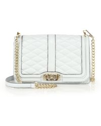 Rebecca Minkoff Quilted Love Crossbody Bag - Lyst