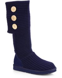 Ugg Classic Cardy Knit Knee-High Boots blue - Lyst