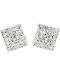 CC Skye Pyramid Pave Stud Earrings - Lyst