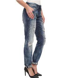 Blank Distressed Denim Boyfriend Relaxed Straight Jean in Fit Of Rage - Lyst