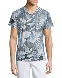 Sol Angeles - Palms-print V-neck Short-sleeve T-shirt - Lyst
