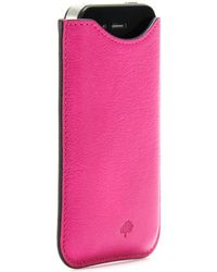 Mulberry Leather Iphone Case - Lyst