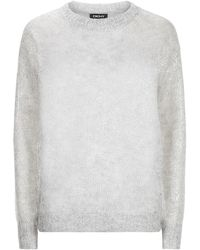 DKNY - Foil Speckle Open Knit Sweater - Lyst