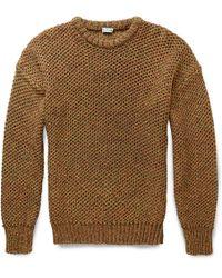 Loewe Open-knit Cotton Sweater - Lyst