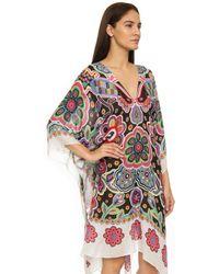 Theodora & Callum - Fiesta Floral Linen-blend Caftan - Lyst