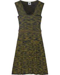M Missoni Yellow Crochet-knit Dress - Lyst