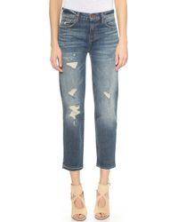 J Brand Maria Straight Leg Cropped Jeans - Blitz - Lyst