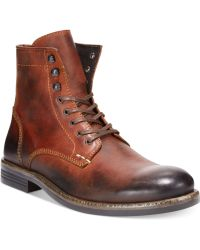 Kenneth Cole Brown Hard-core Boots - Lyst