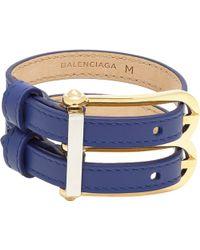 Balenciaga Leather B Bracelet - Lyst