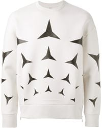 Neil Barrett White Printed Sweatshirt - Lyst