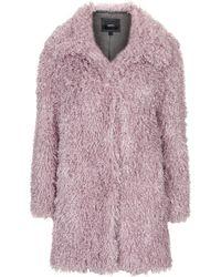 Topshop Womens De Fur Faux Fur Coat by Unreal Fur - Pink - Lyst