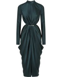 Jason Wu Cutout Draped Satin Dress - Lyst