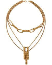 Haute Hippie - Multi-strand Studded Pendant Necklace - Lyst